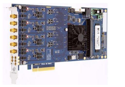 本系列产品为坤驰的合作伙伴德国Spectrum公司发布的M4i.44XX-X8系列PCIeX8数字化仪。其卓越的性能可被广泛应用于各类科技领域,涵盖了激光、雷达、通信、电子对抗、高能物理、质谱分析、超声、医疗等应用。  该平台数字化仪都提供两个或四个完全同步通道。如果用户需要更多的通道可以利用Spectrum StarHub系统将8块板卡链接在一起,建立多达32个完全同步信道。 M4i数字化仪提供采样率高达500MS/s(14位ADC分辨率)或250MS/s(16位分辨率)。高采样率和高分辨率的结合,使M