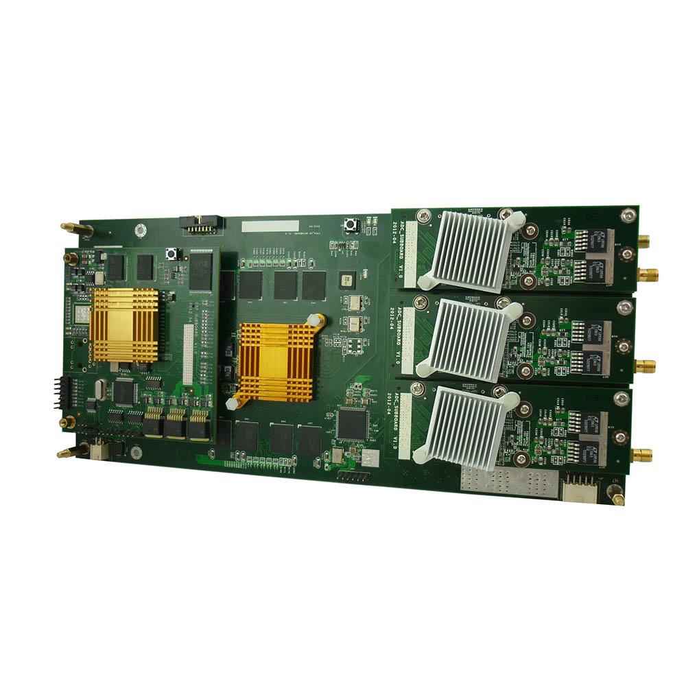 3通道ad v5 fpga 6555dsp,串口输出板,用于激光雷达测速等场合